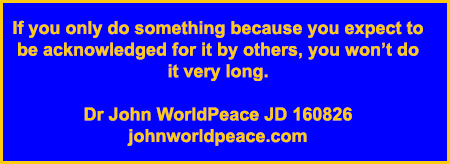Dr John WorldPeace JD Commentary on World Peace Issues